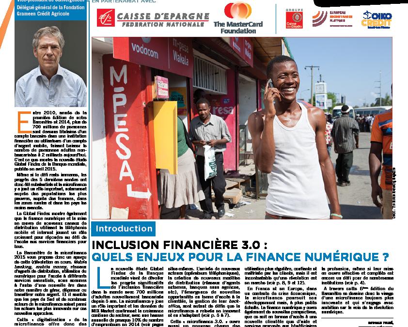 Lancement du Baromètre de la Microfinance 2015