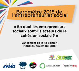 Save the date! Baromètre 2015 de l'Entrepreneuriat Social