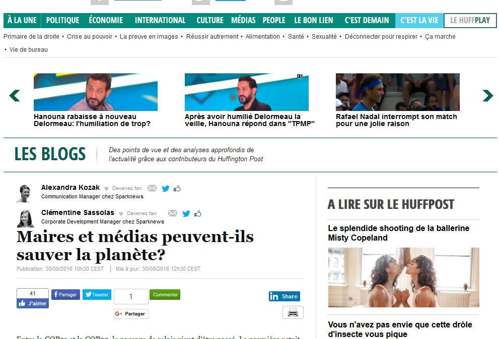 [30/08 Huffington Post] Maires et médias peuvent-ils sauver la planète ?