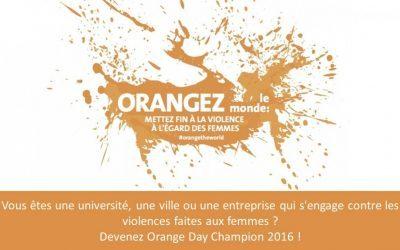 Convergences participe à la campagne Orange Day de l'ONU femmes