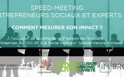 Entrepreneurs sociaux : participez à notre speed-meeting spécial mesure d'impact !