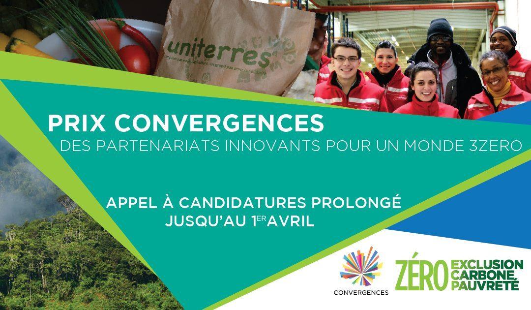 Quinze jours supplémentaires pour candidater aux Prix Convergences !
