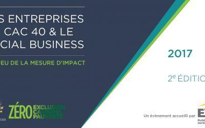 Sortie de l'enquête «Les entreprises du CAC 40 & le Social Business»