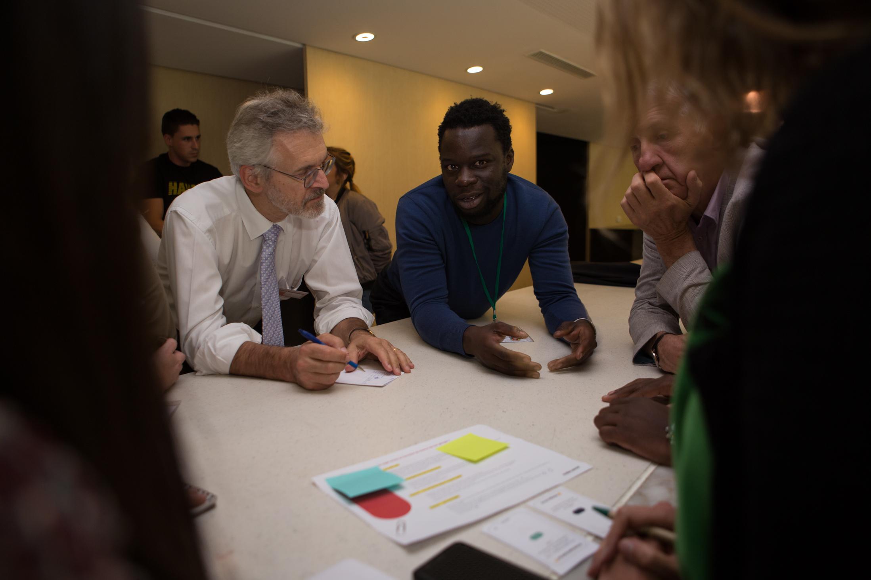 A participative workshop, makesense and Convergences