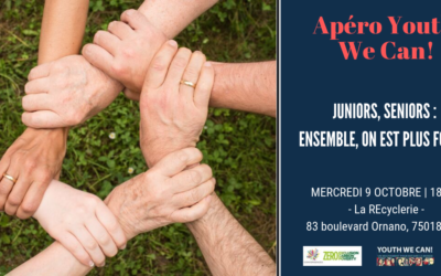 Retour sur l'Apéro Youth We Can! du 9 octobre 2019: Juniors, seniors, ensemble on est plus fort !