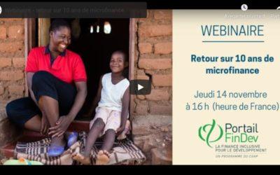 [Webinaire] Retour sur 10 ans de microfinance