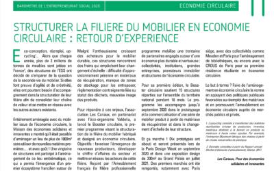 Structurer la filière du mobilier en économie circulaire : retour d'expérience