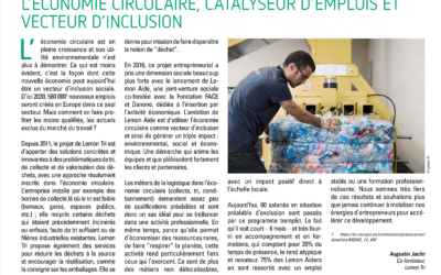 Circular economy a catalyst for employment and a vector for inclusion