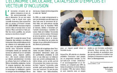 L'économie circulaire, catalyseur d'emplois et vecteur d'inclusion