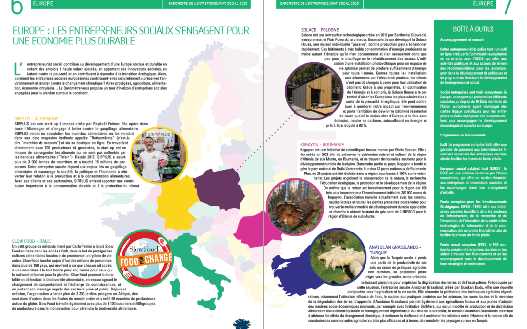 Europe: Social entrepreneurs, contributing to a more sustainable europe