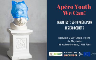 Retour sur l'Apéro Youth We Can! du 9 septembre 2020 – Trash Test : Es-tu prêt.e pour le Zéro Déchet ?